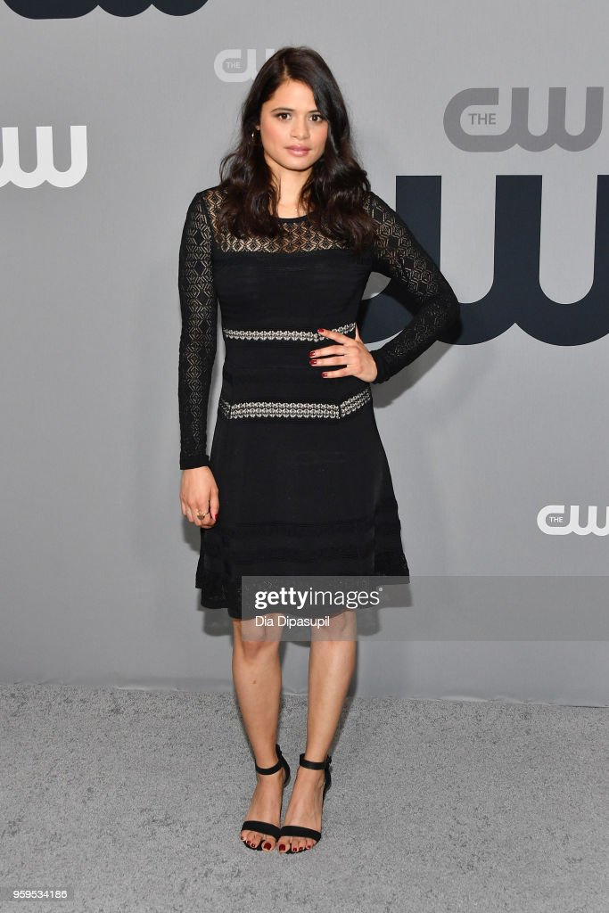 Melonie Diaz attends the 2018 CW Network Upfront at The London Hotel on May 17, 2018 in New York City.