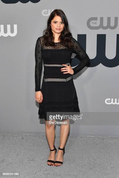 Melonie Diaz attends the 2018 CW Network Upfront at The London Hotel on May 17 2018 in New York City