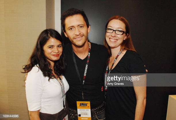Melonie Diaz Clifton Collins Jr and Molly Parker attend the 2008 Los Angeles Film Festival's Coffee Talk Actors on June 22 2008 at W Los Angeles in...