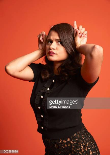 Melonie Diaz from The CW Television Network's 'Charmed' poses for a portrait in the Getty Images Portrait Studio powered by Pizza Hut at San Diego...