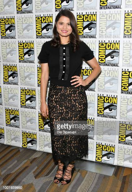 Melonie Diaz of 'Charmed' attends CBS Television Studios Press Line during ComicCon International 2018 at Hilton Bayfront on July 19 2018 in San...