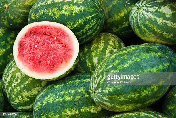 melons in southfield - watermelon stock pictures, royalty-free photos & images