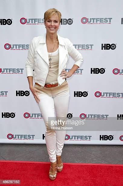 Melora Hardin attends the 2014 Outfest Los Angeles panel discussion of 'Transparent' at DGA Theater on July 19 2014 in Los Angeles California