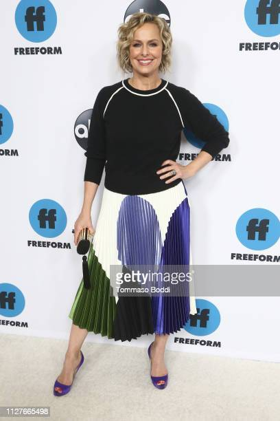 Melora Hardin attends the Disney ABC Television Hosts TCA Winter Press Tour 2019 at The Langham Huntington Hotel and Spa on February 05 2019 in...