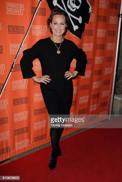 Melora Hardin attends the opening night of Gilbert and Sullivan's 'Pirates Of Penzance' at Pasadena Playhouse on January 25 2018 in Pasadena...