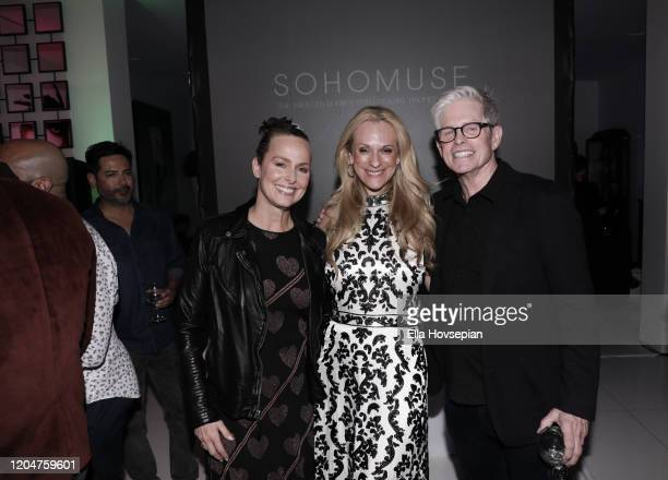 Melora Hardin Consuelo Vanderbilt Costin and Preck Costin attend the LA Launch Event Of SohoMuse at Christopher Guy West Hollywood Showroom on...