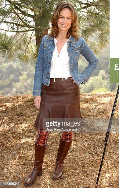 Melora Hardin during Environmental Media Association and E Entertainment Television Tree Planting Event Arrivals at TreePeople Headquarters in Los...