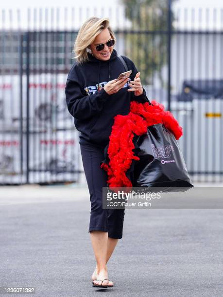 Melora Hardin is seen outside 'Dancing With The Stars' Rehearsal Studio on October 22, 2021 in Los Angeles, California.