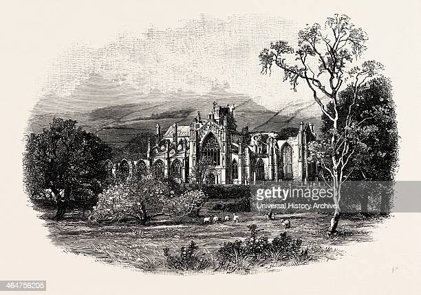 Melrose Abbey From The Southeast Melrose Abbey Is A Gothicstyle Abbey In Melrose Scotland It Was Founded In 1136 By Cistercian Monks On The Request...
