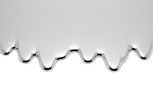 Melt metal liquid on white 1066453812