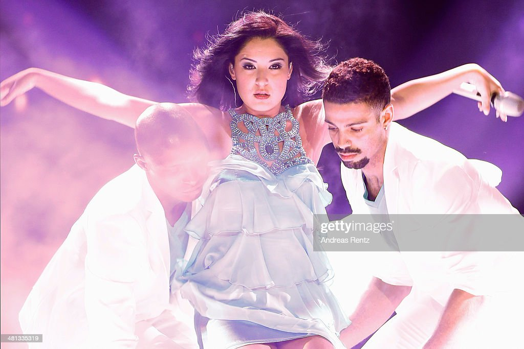 Meltem Acikgoez performs at the rehearsal for the 1st 'Deutschland sucht den Superstar' (DSDS) show at Coloneum on March 29, 2014 in Cologne, Germany.
