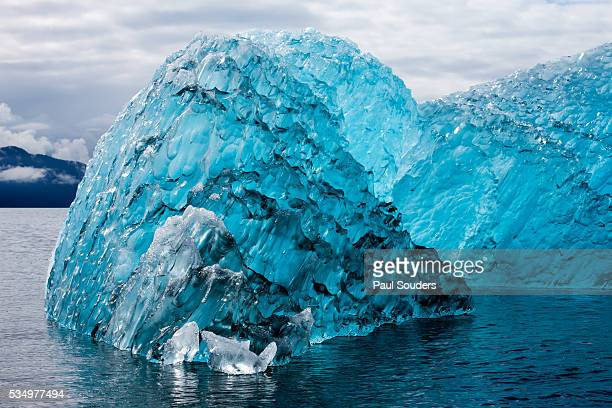 Melting Blue Iceberg, Alaska