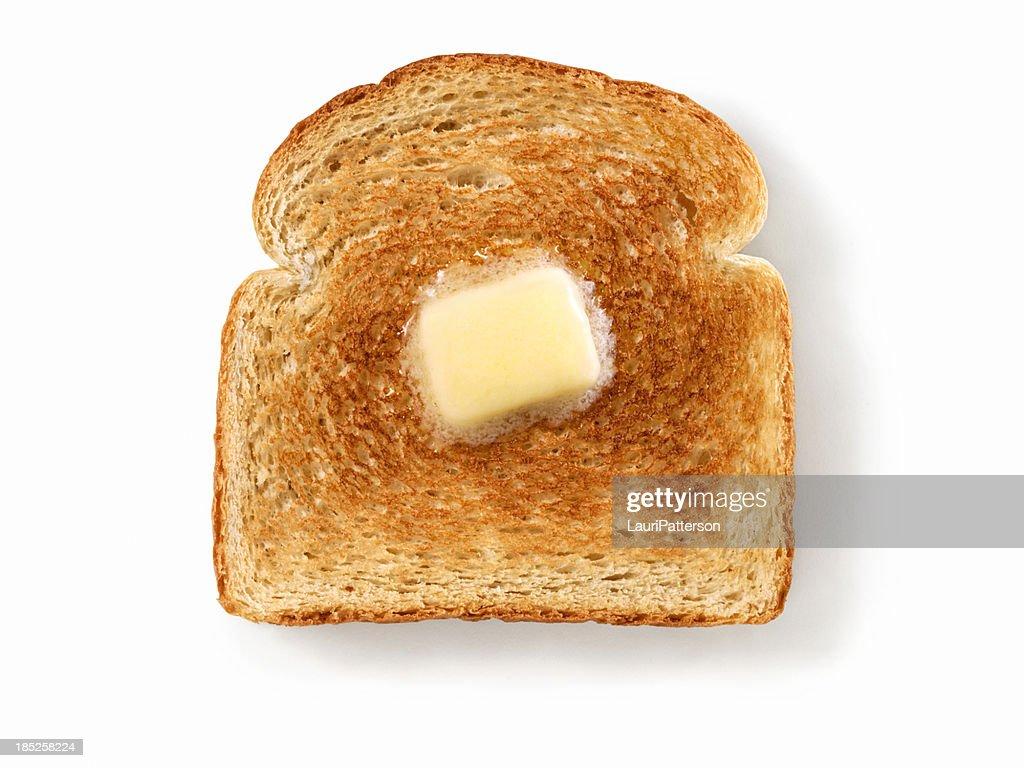 Melting Butter on White Toast : Stock Photo