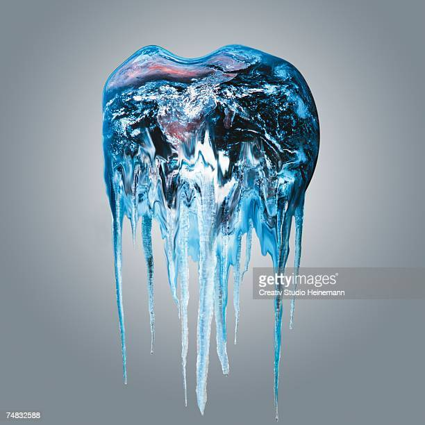 Melting earth, close-up (digital composite)
