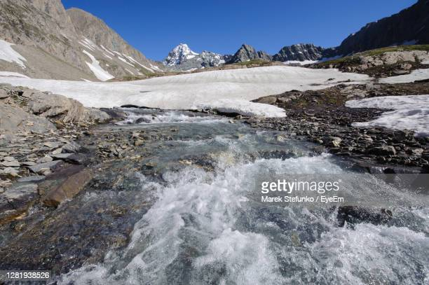 melting glacier in hohe tauern national park - marek stefunko stock pictures, royalty-free photos & images