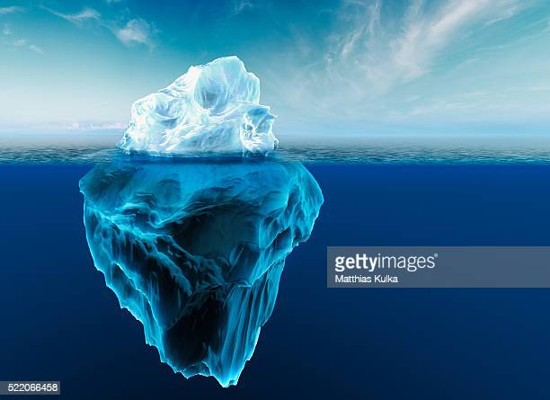 melting iceberg - berg stock pictures, royalty-free photos & images