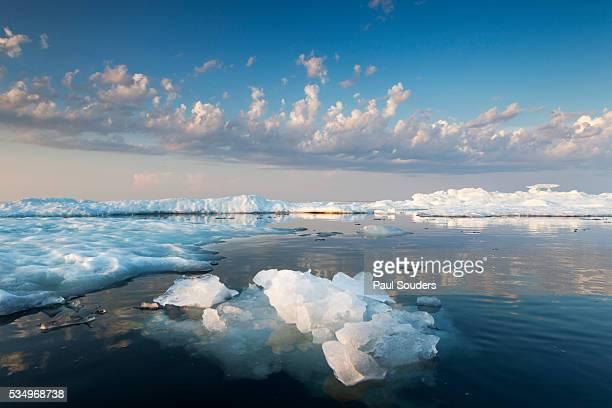 Melting Sea Ice at Sunset, Hudson Bay, Canada