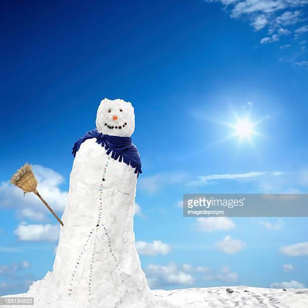 Schmelzen Schneemann