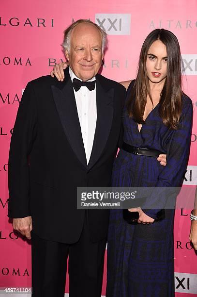 Melusine Ruspoli and Nicola Bulgari attend the Bulgari Gala Dinner Photocall at Maxxi Museum on November 29 2014 in Rome Italy