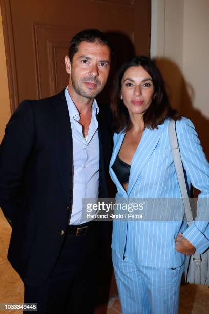 Melvil Poupaud and Aure Atika attend the Kering Heritage Days Opening Night at 40 Rue de Sevres on September 14 2018 in Paris France