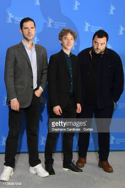 Melvil Poupaud Swann Arlaud and Denis Menochet pose at the Grace A Dieu photocall during the 69th Berlinale International Film Festival Berlin at...