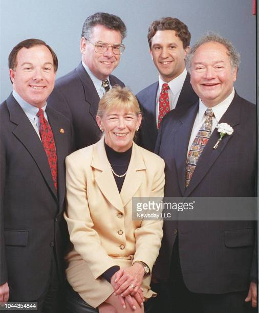 The Long Island Congressional Delegation poses for a photo on November 6 1996 Michael Forbes 1st District Peter King 3rd District Carolyn McCarthy...