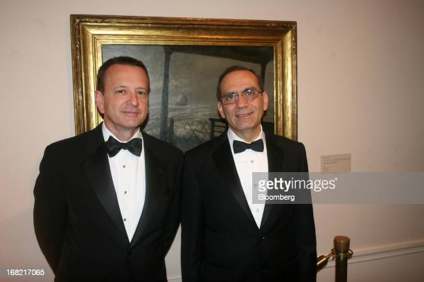 Melvin Dubee vice president for legislative affairs intelligence cyber C4ISR solutions at Lockheed Martin Corp left and Mohamed Tawfik Egypt's...