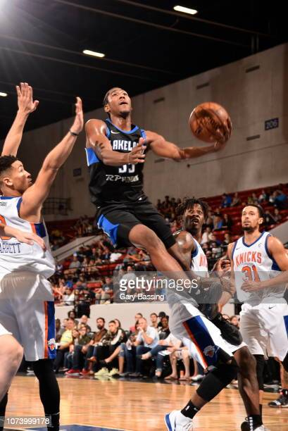 Melvin Frazier Jr #35 of the Lakeland Magic shoots a layup during the game against the Westchester Knicks on November 10 2018 at RP Funding Center in...