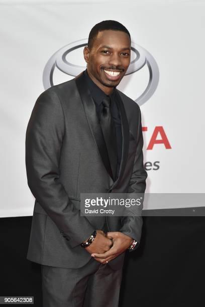 Melvin Jackson Jr attends the 49th NAACP Image Awards Arrivals at Pasadena Civic Auditorium on January 15 2018 in Pasadena California