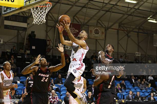 CRUZ CA JANUARY 7 Melvin Johnson III of the Raptors floats to the basket for a layup against the Sioux Falls Skyforce during an NBA DLeague game on...