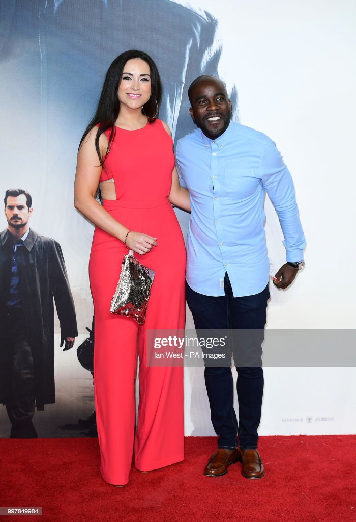 Melvin Odoom and guest attending the Mission: Impossible Fallout ...