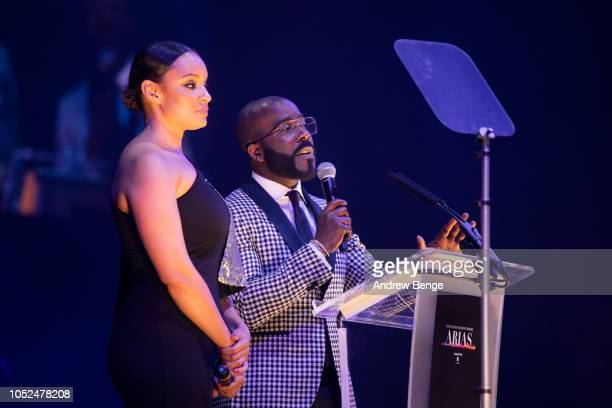 Melvin Odoom and Pandora host the Audio and Radio Industry Awards at First Direct Arena Leeds on October 18 2018 in Leeds England