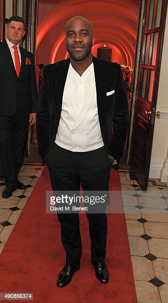 Melvin Odoom attends a fundraising event in aid of the Nepal Youth Foundation hosted by David Walliams at Banqueting House on October 1 2015 in...