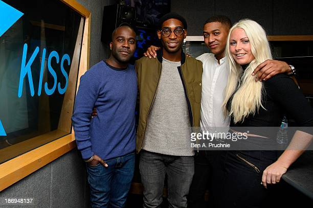Melvin Odoom Tinie Tempah Rickie Williams and Charlie Hedges as Yinie Tempah heads to KISSFM UK studios for a chat with Rickie Melvin and Charlie in...