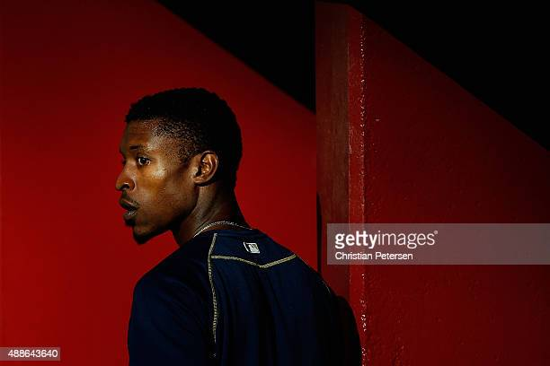 Melvin Upton Jr #2 of the San Diego Padres walks through the dugout before the MLB game against the Arizona Diamondbacks at Chase Field on September...