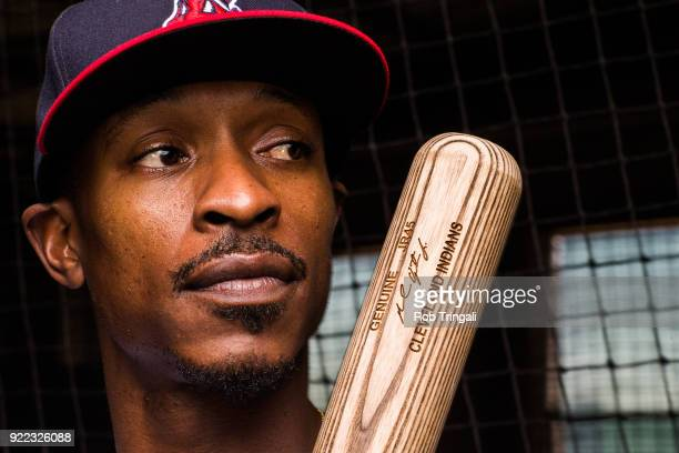 Melvin Upton Jr of the Cleveland Indians poses for a portrait at the Cleveland Indians Player Development Complex on February 21 2018 in Goodyear...
