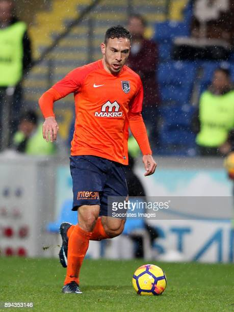 Melvut Erdinc of Istanbul Basaksehir during the Turkish Super lig match between Istanbul Basaksehir v Antalyaspor at the Fatih Terim Stadium on...