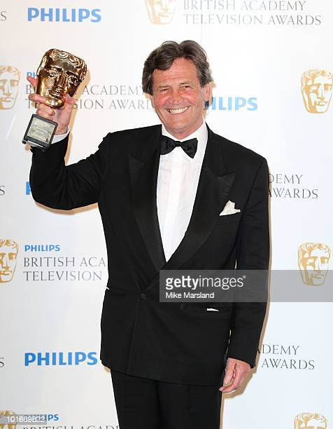Melvyn Bragg poses at the Winners Boards at the Philips British Academy Television awards at the London Palladium on June 6 2010 in London England