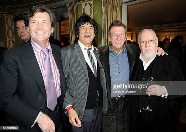 Melvyn Bragg Ronnie Wood John Hurt and Sir Peter Blake arrive at the South Bank Show Awards at the Dorchester Hotel on January 20 2009 in London...