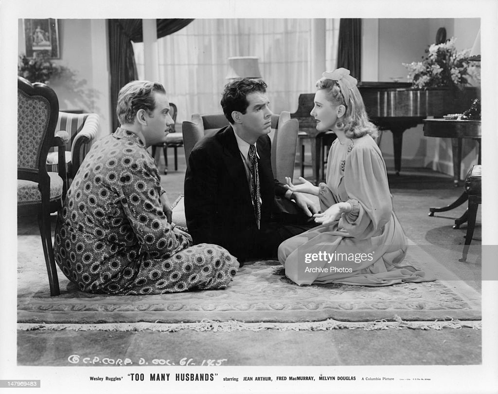 Melvyn Douglas And Fred MacMurray In 'Too Many Husbands' : News Photo