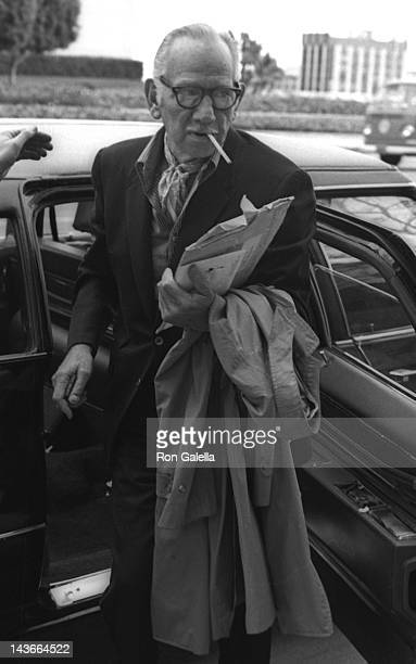 Melvyn Douglas attends the rehearsals for 43rd Annual Academy Awards on April 14 1971 at the Dorothy Chandler Pavilion in Los Angeles California