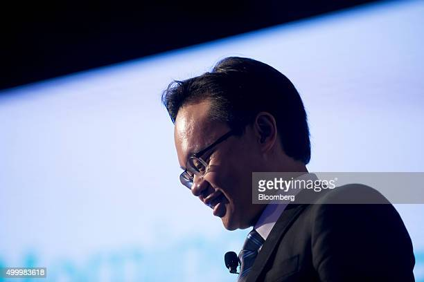 Melvyn Pun chief executive officer of Yoma Strategic Holdings Ltd walks off a stage at the Bloomberg ASEAN Business Summit in Bangkok Thailand on...