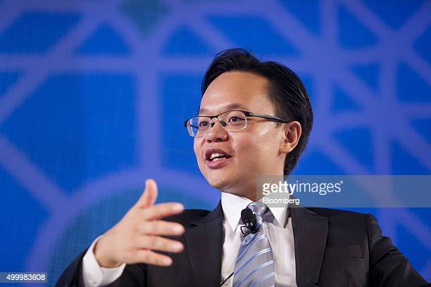 Melvyn Pun chief executive officer of Yoma Strategic Holdings Ltd speaks at the Bloomberg ASEAN Business Summit in Bangkok Thailand on Friday Dec 4...