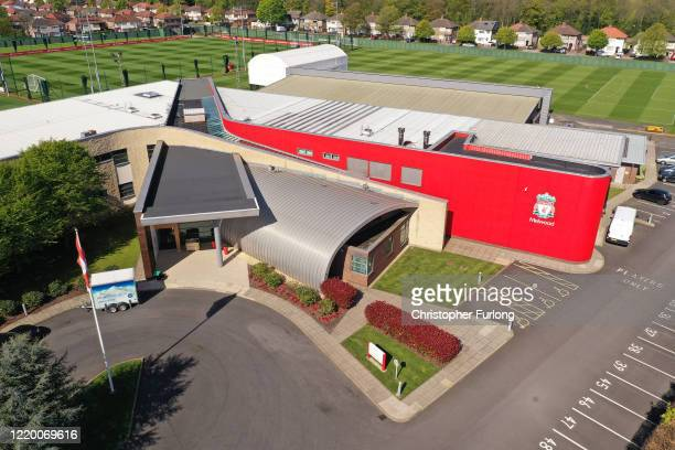 Melwood, the training ground Liverpool Football Club during the coronavirus pandemic lockdown on April 20, 2020 in Liverpool, England. Liverpool F.C....