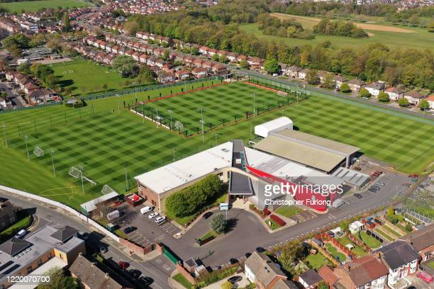 Melwood the training ground Liverpool Football Club during the coronavirus pandemic lockdown on April 20 2020 in Liverpool England Liverpool FC has...