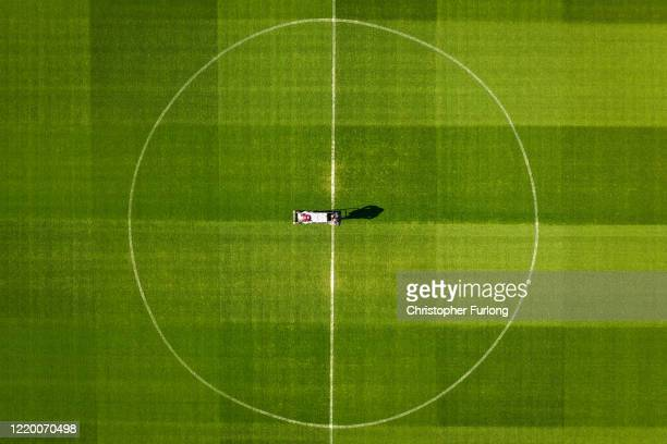 Melwood, the training ground of Liverpool Football Club during the coronavirus pandemic lockdown on April 20, 2020 in Liverpool, England. Liverpool...