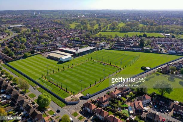 Melwood the training ground of Liverpool Football Club during the coronavirus pandemic lockdown on April 20 2020 in Liverpool England Liverpool FC...