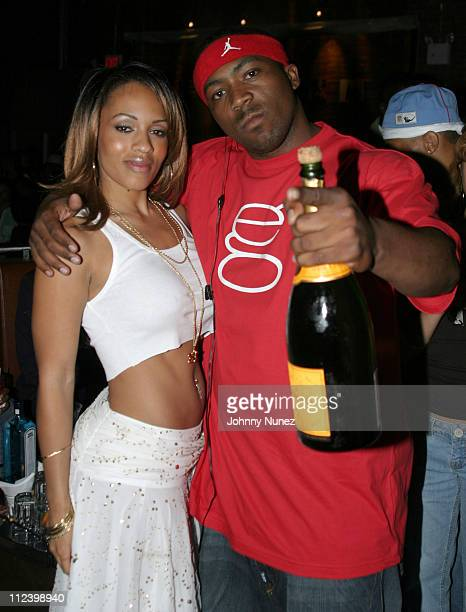 Melyssa Ford and Cadillac Tah during Lil' X Birthday Party June 15 2005 at Ruby Falls in New York City New York United States