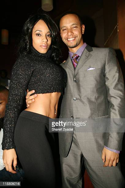 Melyssa Ford and Lil X during Lil X and Kenny Burns Holloween Birthday Party at Lotus in New York City New York United States
