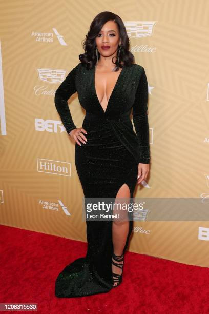 Melyssa Ford attends American Black Film Festival Honors Awards Ceremony at The Beverly Hilton Hotel on February 23, 2020 in Beverly Hills,...
